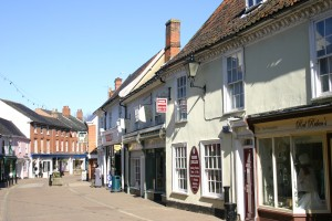 Shopping in Halesworth in Suffolk