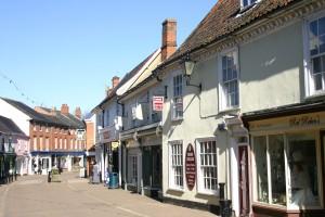 Shopping in Halesworth in Suffolk